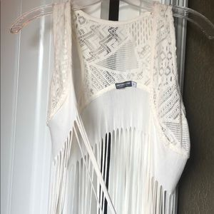 Tops - Fringe cover top